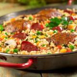 Spanish Chorizo, Chicken & Mushroom Paella