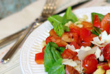 Spinach Salad with Chorizo & Tomatoes