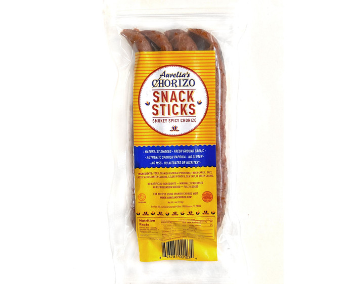 Aurelia's Snack Sticks!  That same old-world flavor is now quick, easy, and portable. Indulgent enough for a picnic. Quick enough for a purse. Whether you're on keto, paleo, or just want a good snack - our sticks are the perfect clean and delicious addition to your on-the-go stash.