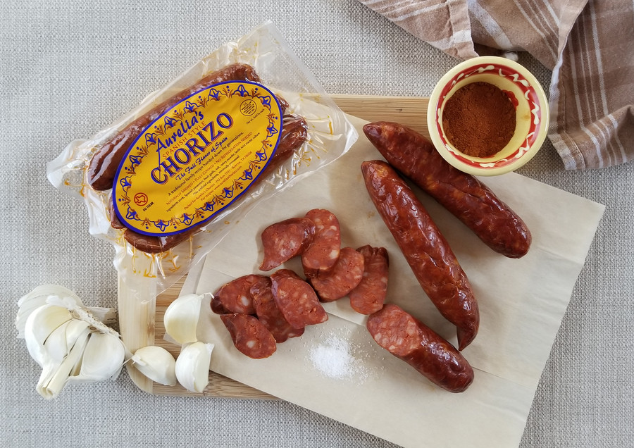 Aurelia's Spanish Chorizo - All-Natural, Keto Friendly, Fully Cooked Sausage w/the Full Flavor of Spain. Just the right amount of smoky & spicy. No Gluten. Whole 30 & Paleo Friendly - 8oz