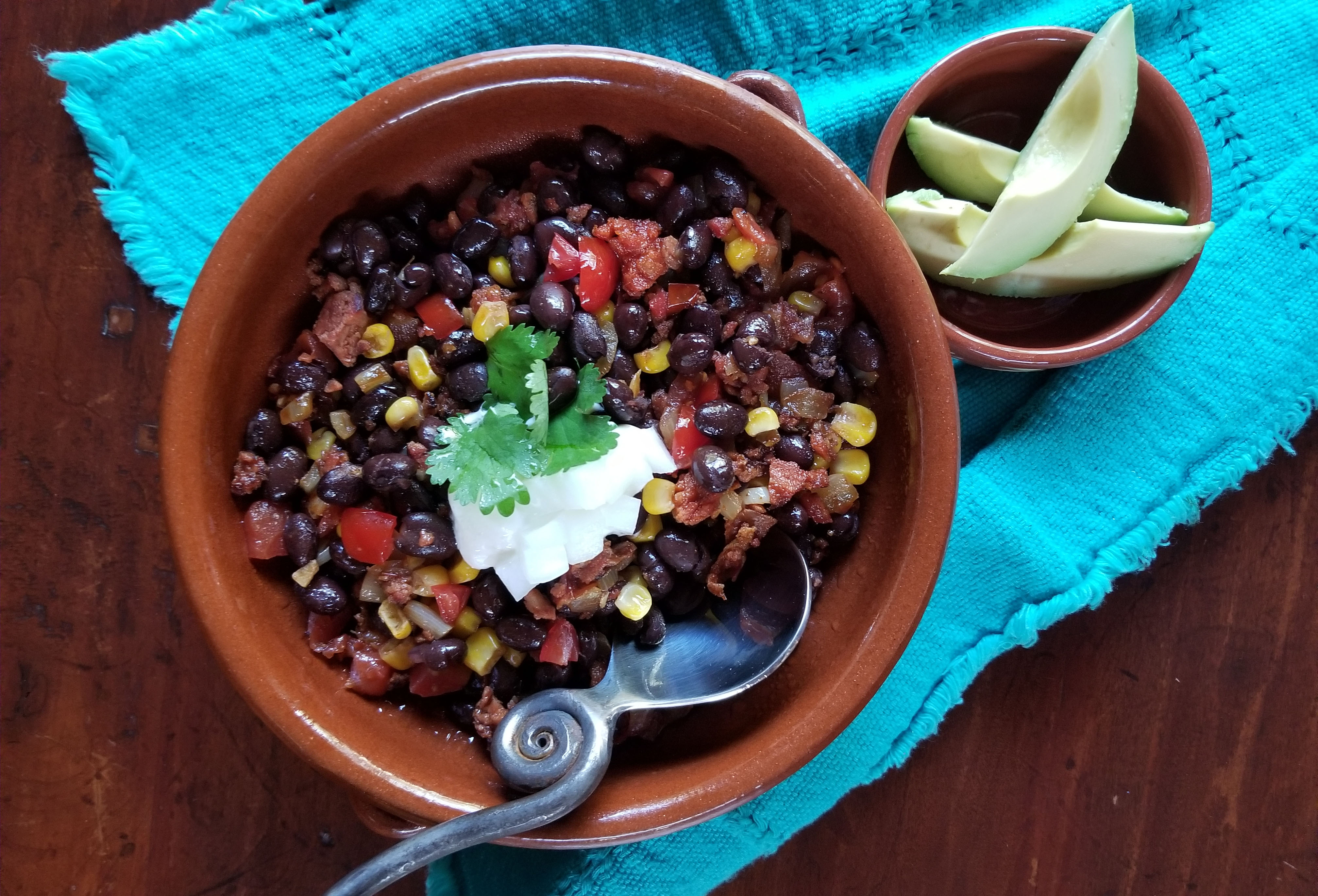 Black Bean Chili with Aurelia's Chorizo