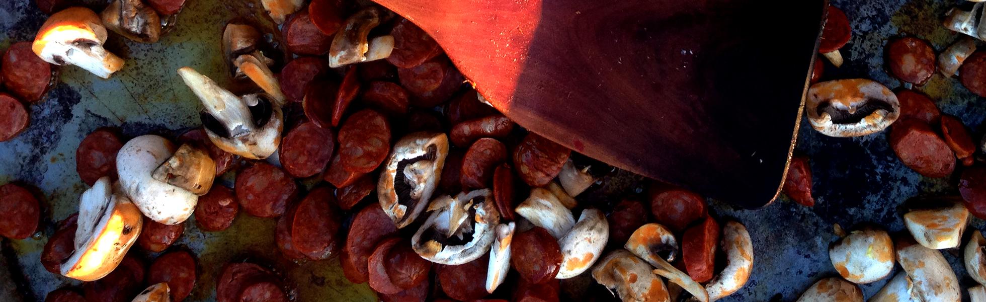 Aurelia's Spanish Chorizo & Mushrooms Paella - get the recipe here!