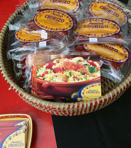 Basket filled with Aurelia's Chorizo