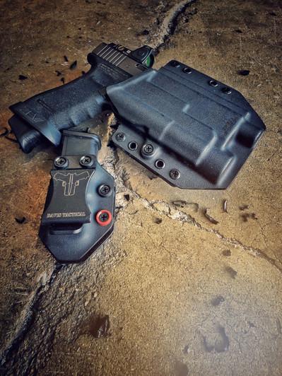 Davis Tactical OWB Pancake Kydex Holster For Glock 19//19X//23//32//45