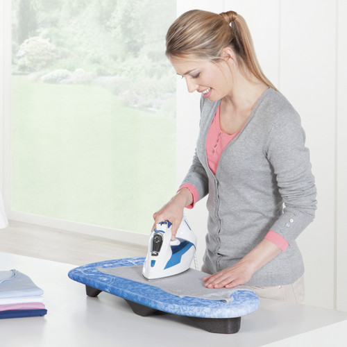 TABLE TOP IRONING BOARD IN USE