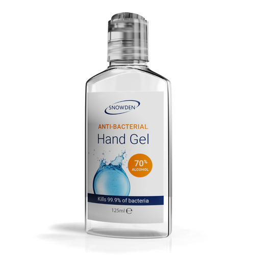 ANTI-BACTERIAL HAND GEL 125ML BOTTLE 70% ALCOHOL