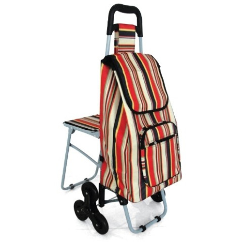 SHOPPING TROLLEY WITH SEAT MULTI COLOUR