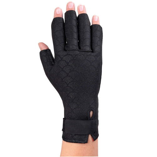 ARTHRITIC GLOVES BLACK ON HAND