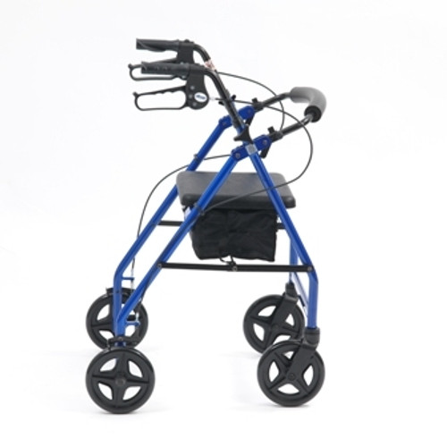 LIGHTWEIGHT ROLLATOR BLUE SIDE