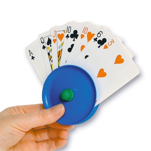 PLAYING CARD HOLDER WITH CARDS