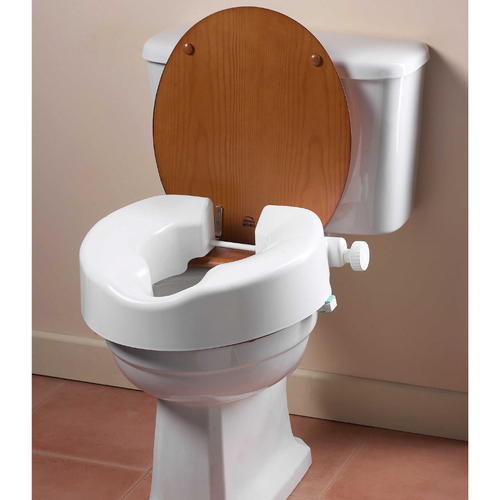 INSTANT LIFT TOILET RAISER ON TOILET