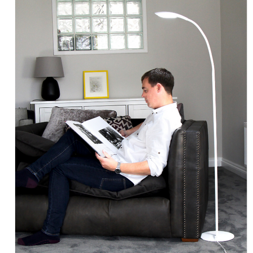 HIGH VISION LED HD READING LIGHT LARGE FLOOR WHITE