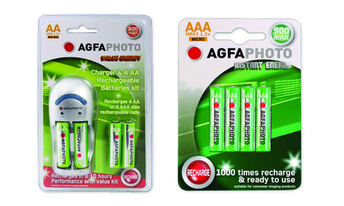 AGFA Battery charger (Includes 4xAA & 4xAAA)