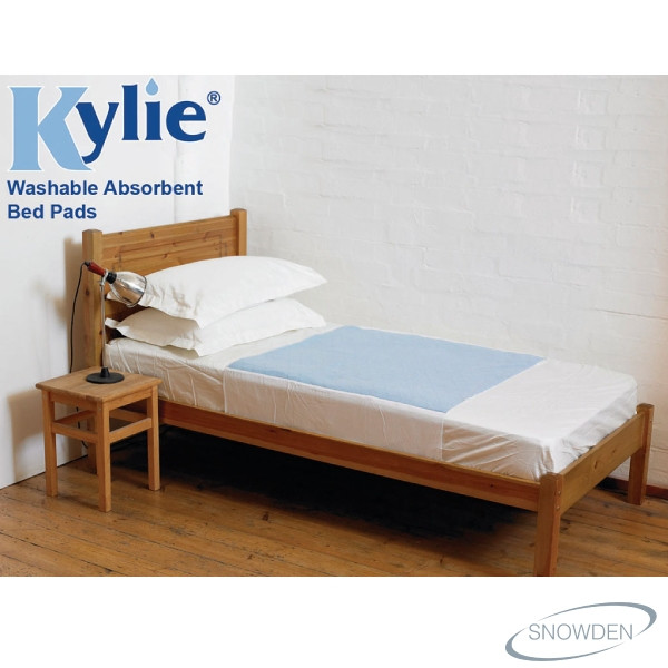 KYLIE WASHABLE AND ABSORBENT BED PADS BLUE
