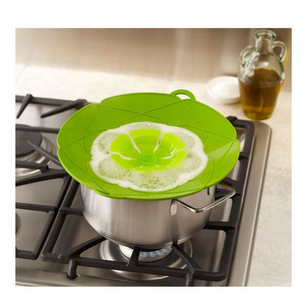 STOP SPILL LID GREEN ON PAN