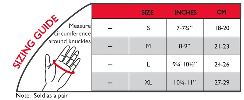 Thermoskin Sizing Guide Chart