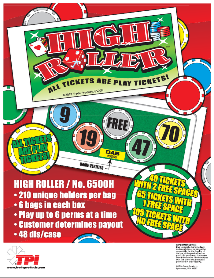High Roller Bingo Event Ticket