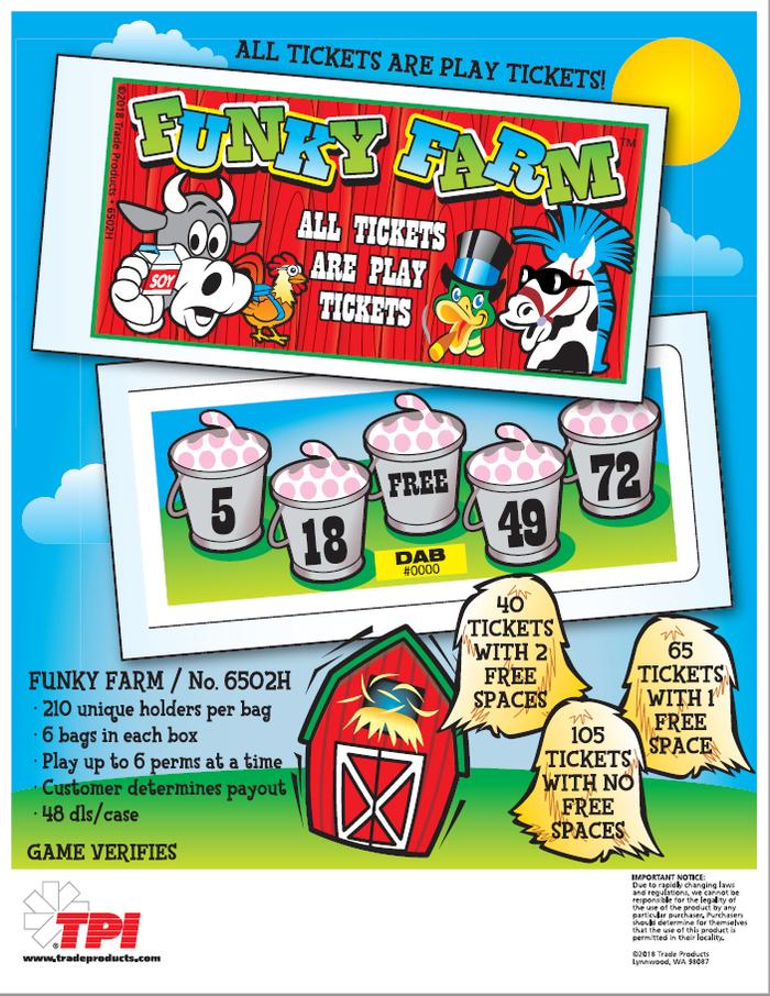 Funky Farm Bingo Event Ticket