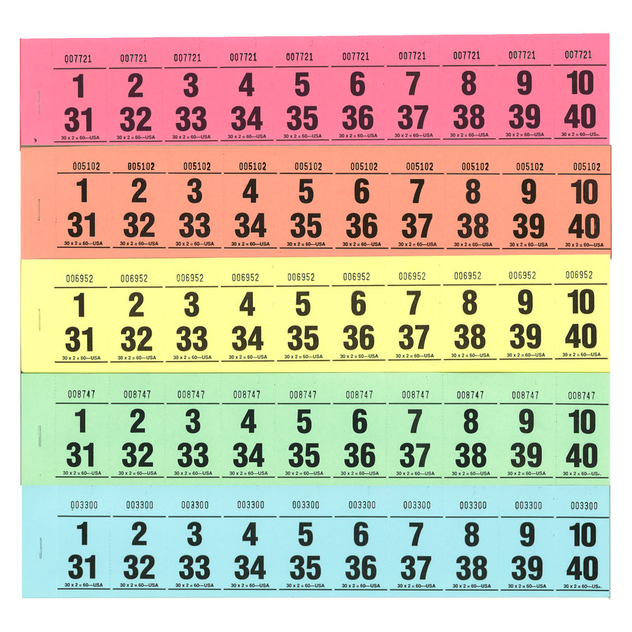 Paddle Tickets - 30 x 2