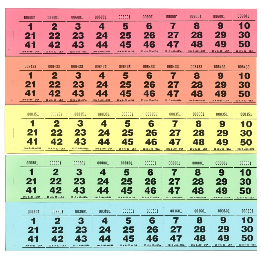 Paddle Tickets - 20 x 3