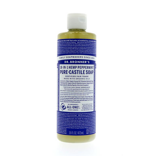 Dr Bronner's Peppermint Liquid Soap 473ml