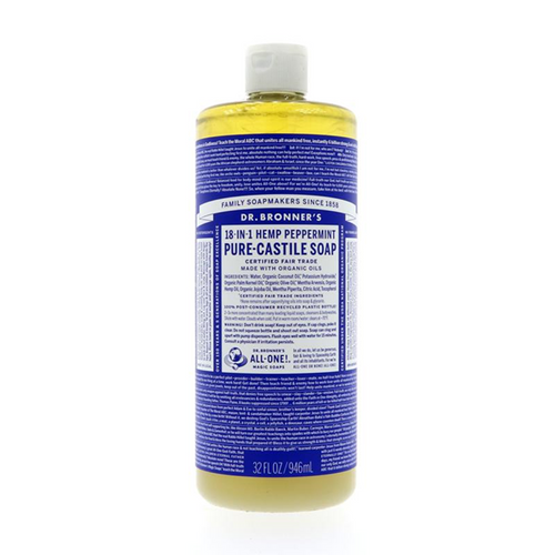 Dr Bronner's Peppermint Liquid Soap 946ml