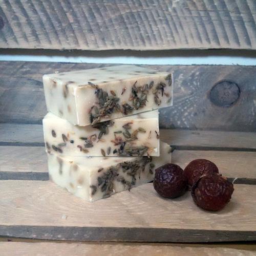 Living Naturally Organic Soapnut Lavender & Geranium Soap Bar