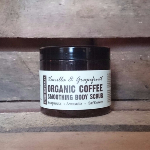 Living Naturally Organic Coffee Smoothing Body Scrub with Vanilla & Grapefruit