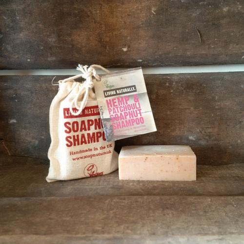 Living Naturally Organic Soapnut Hemp & Patchouli Hair Shampoo Bar