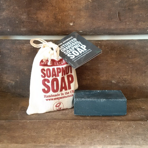 Living Naturally Organic Soapnut Activated Charcoal Soap Bar