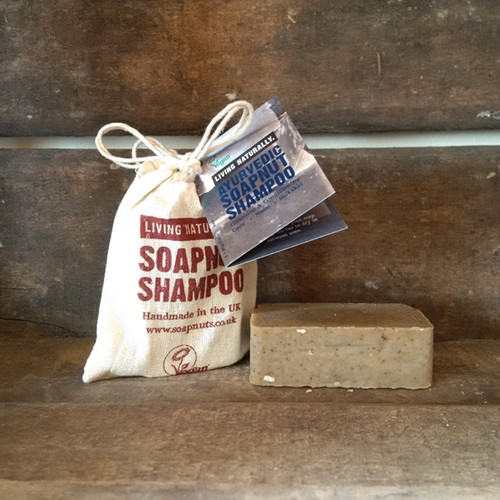 Living Naturally Organic Soapnut Ayurvedic Hair Shampoo Bar