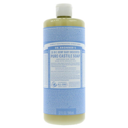 Dr Bronner's Hemp Baby Unscented Liquid Soap 946ml