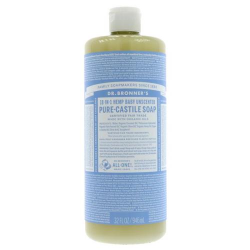 Dr Bronner's Hemp Baby Unscented Liquid Soap 946ml