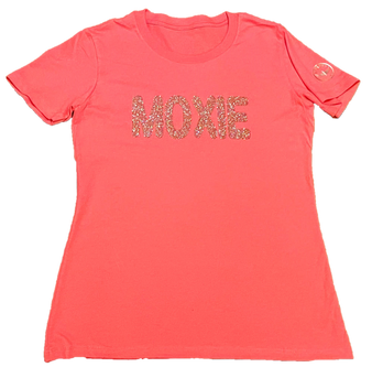 Moxie Hot Pink Rose Gold Glitter Front