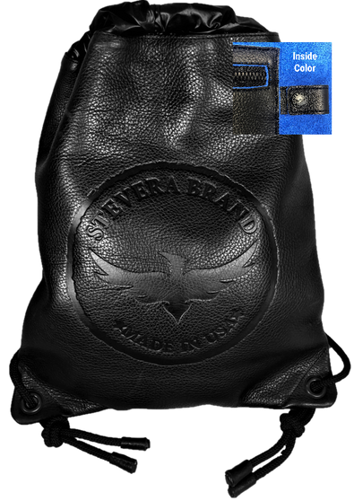 Leather Drawstring Backpack Front