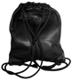 Leather Drawstring Backpack Back