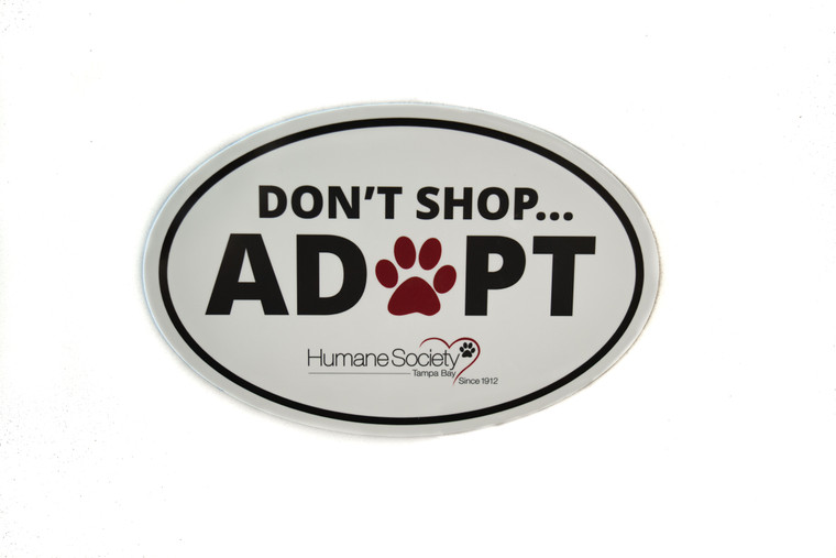 Magnet-Oval, Don't Shop...Adopt