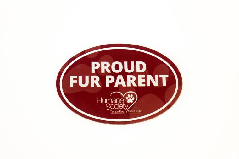 Magnet-Oval, Proud Fur Parent