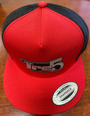 Red/ black mesh patch snap back