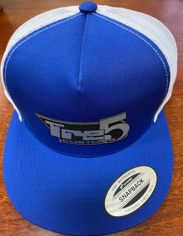 Blue/ white mesh patch snap back