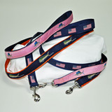 Dog Leashes with Embroidered Design