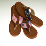 Women's Non-Skid Rubber Sandals with Blue Ribbon Design