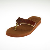 Women's Non-Skid Rubber Sandals with Plain Leather Design