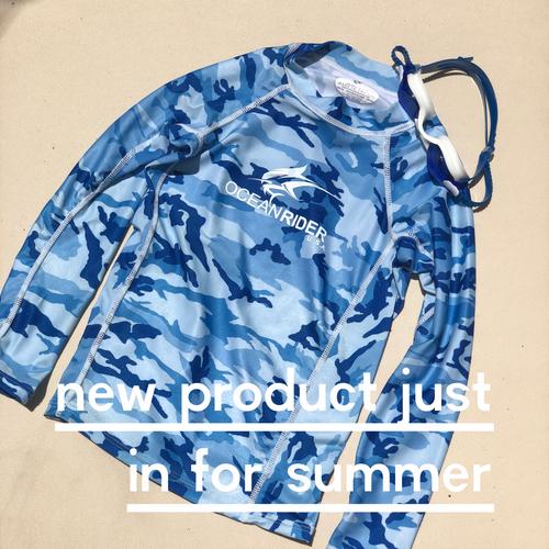 NEW Boys Blue Camouflage Rash-guard
