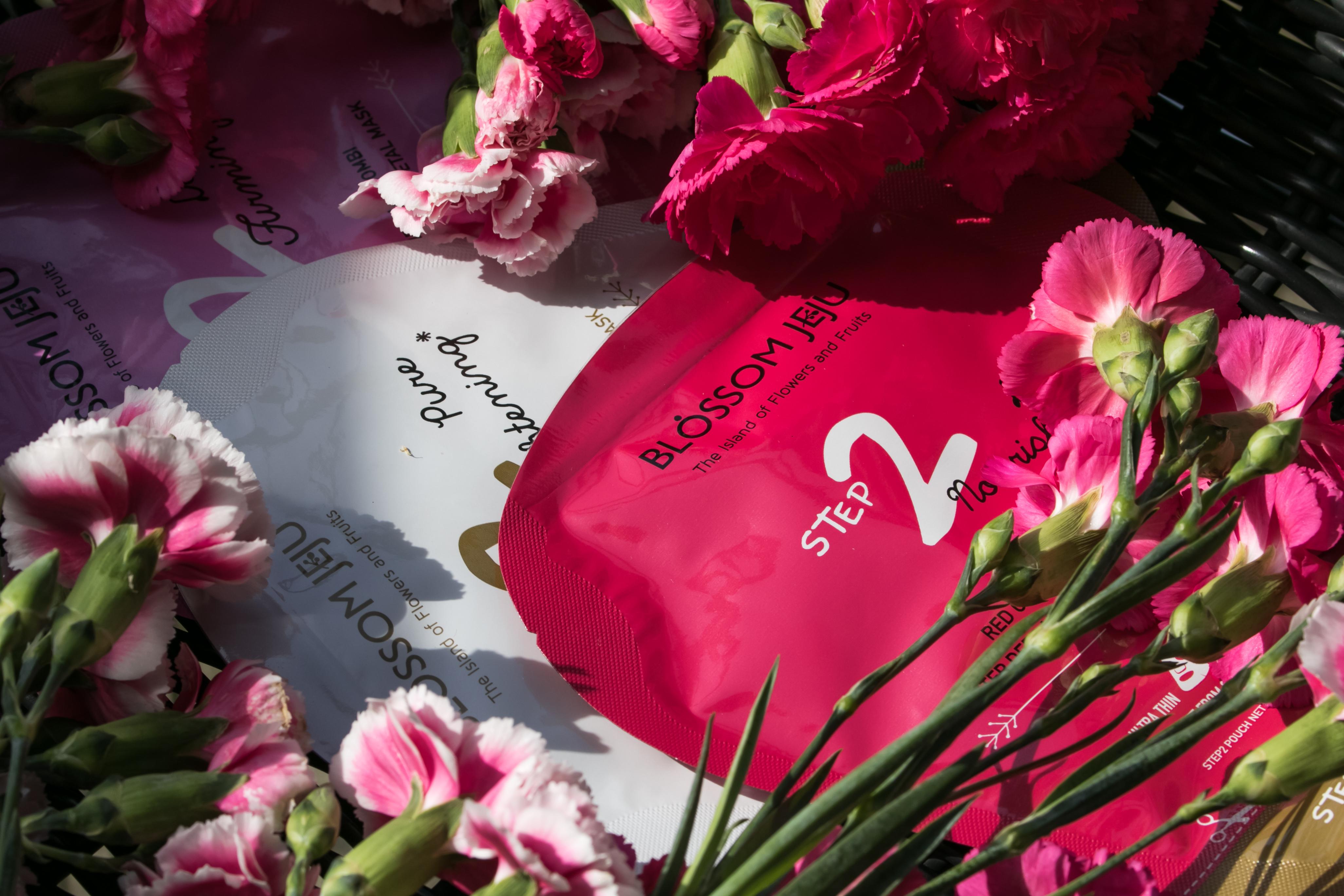 Korean skincare Blossom Jeju sheet masks