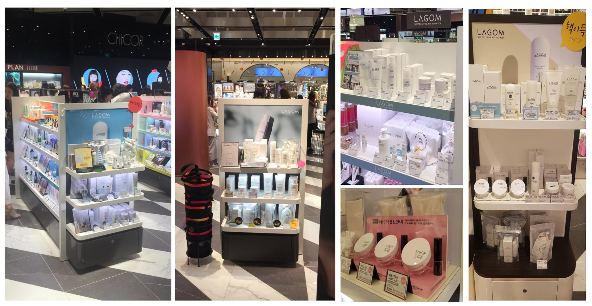 Korean skincare Lagom cosmetics in offline stores