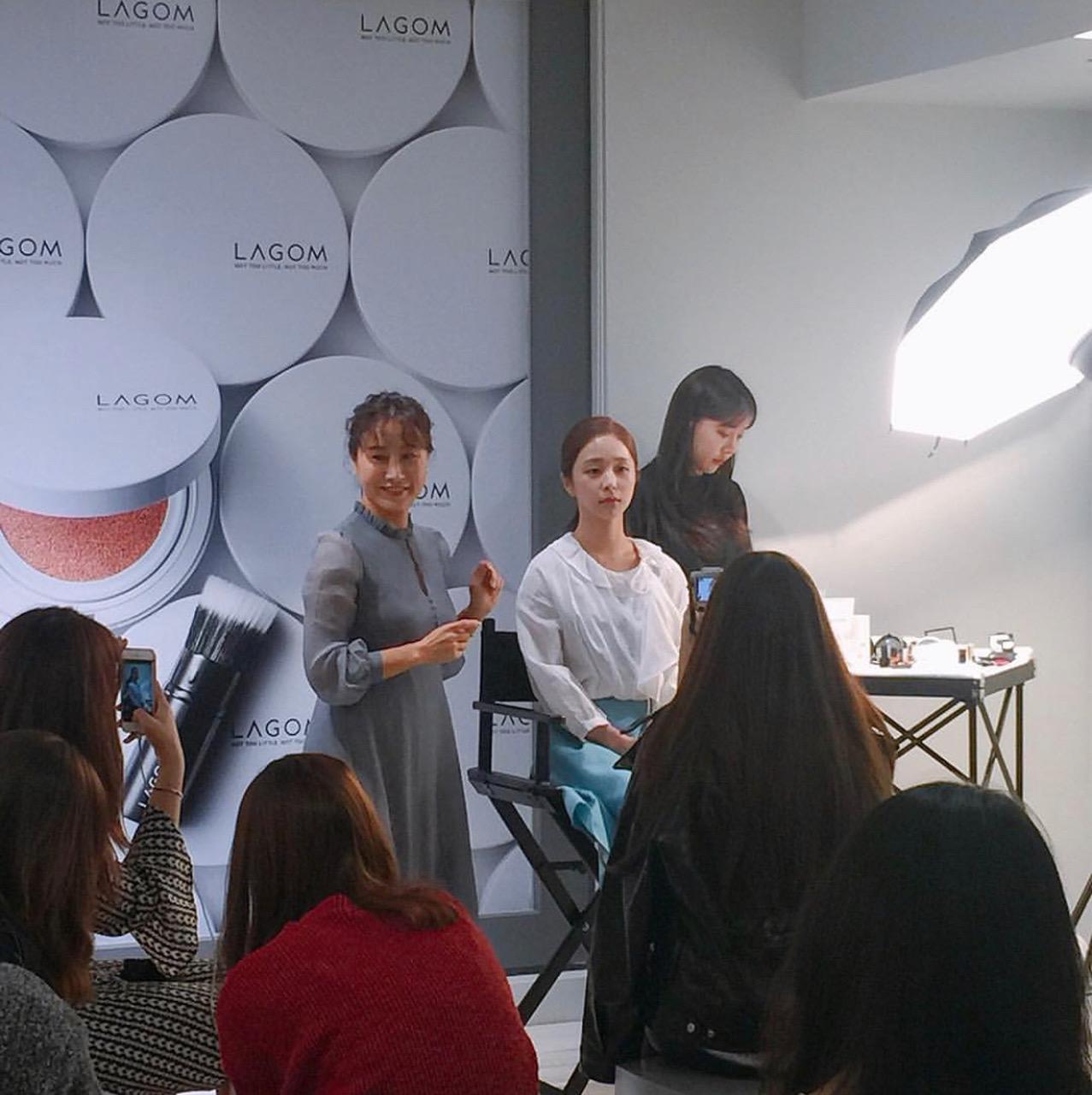 Ko Won Hye at the makeup class