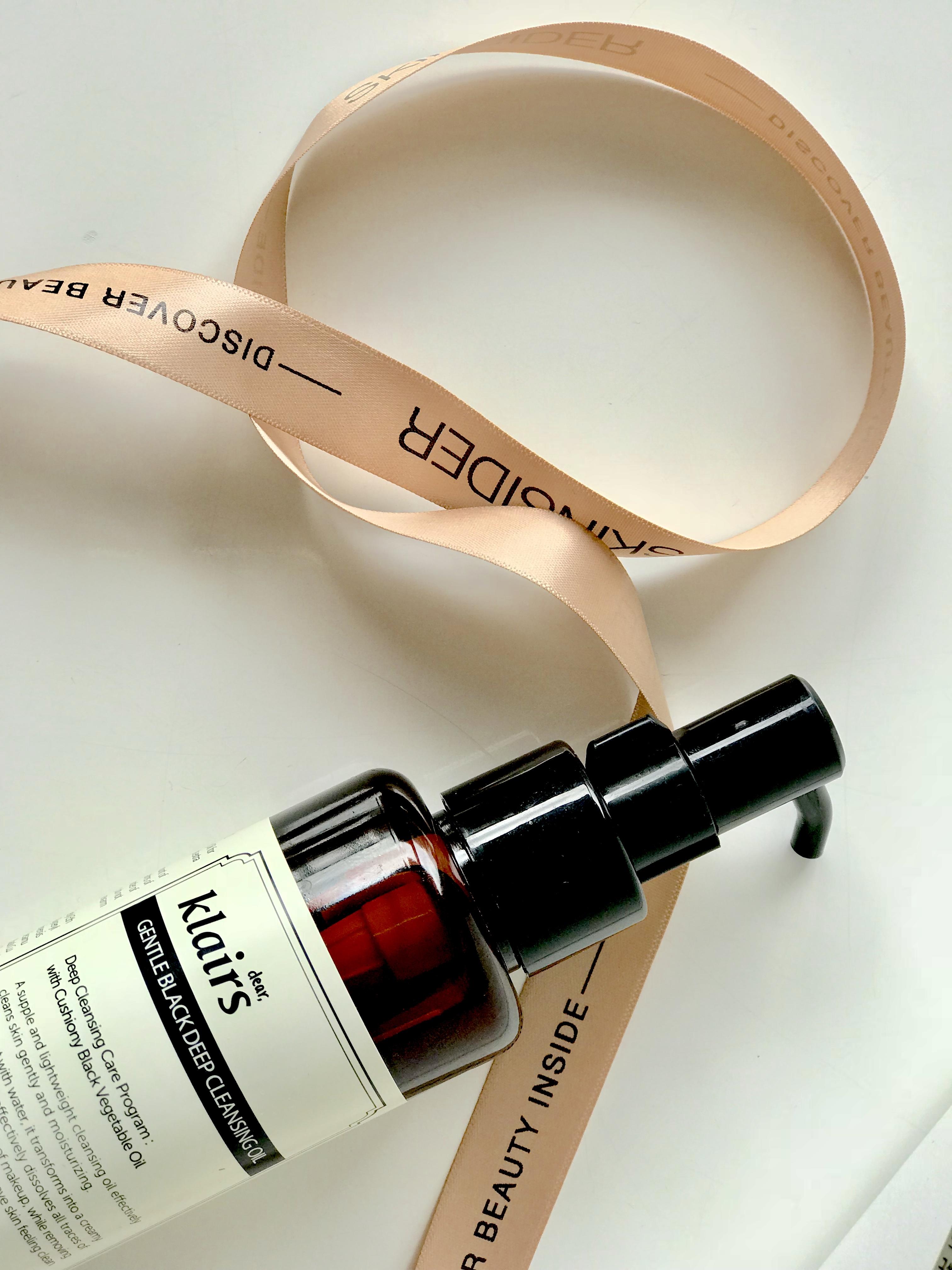Korean skincare Klairs Gentle Black Deep Cleansing Oil