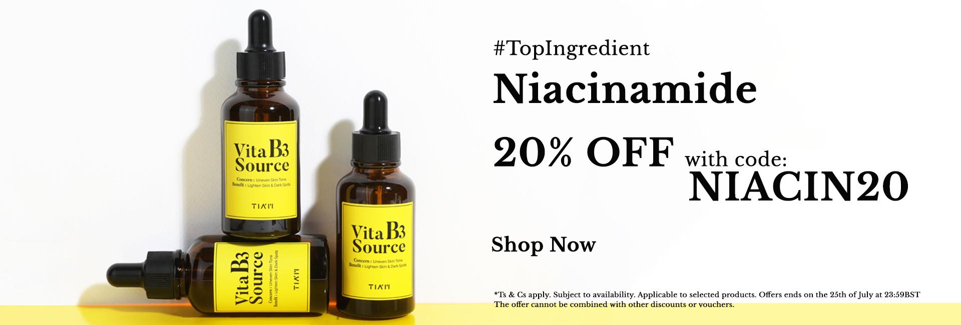 20% off on Niacinamide