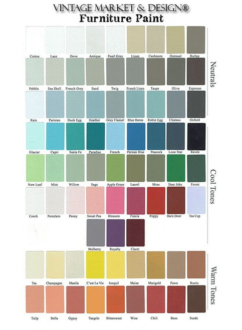 Hand Painted Color Chart
